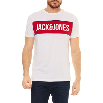 Jack & Jones - T-shirt, korte mouw - wit
