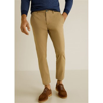 PANTALON SLIM-FIT CROP - BEIGE Mango Man