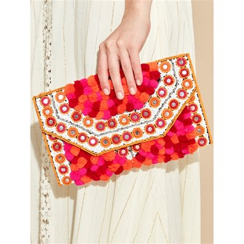 Amenapih - Mexicane - Sac pochette - rouge