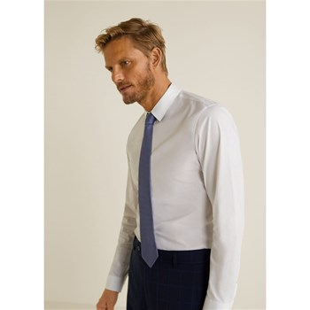 Mango Man - Tailored - Chemise manches longues - blanc