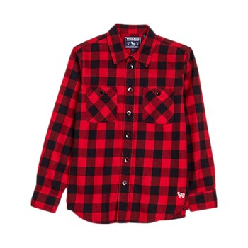 Woolrich - Chemise manches longues - rouge