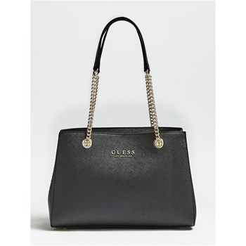 ROBYN - SAC FINITION SAFFIANO - NOIR Guess