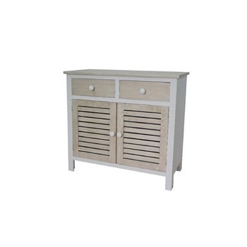 Novatrend - Commode 2 portes et 2 tiroirs - marron