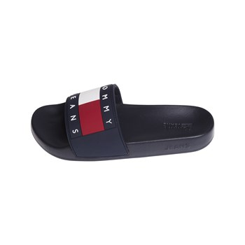 Tommy Hilfiger - Flag poo - Zuecos - negro
