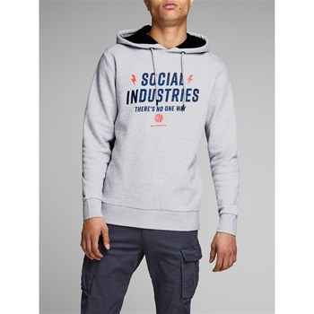 Jack & Jones - James - Sweat à capuche - gris clair