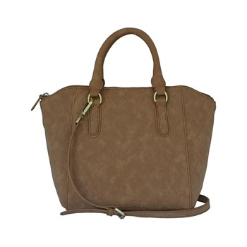 Poon - Borsa trapezio in pelle - marrone scuro