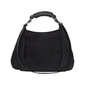 Poon - Borsa hobo in pelle - nero