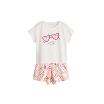 Mango Kids - Pyjama court imprimé - rose