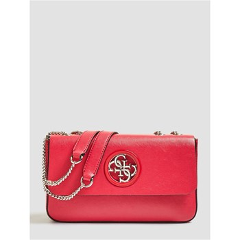 OPEN ROAD - SAC BANDOULIÈRE GRAINÉ - ROUGE Guess
