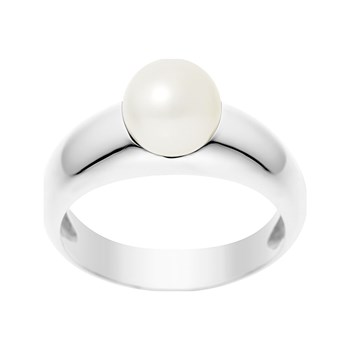 Just Pearl - Miss Pearl - Bague solitaire - argentato