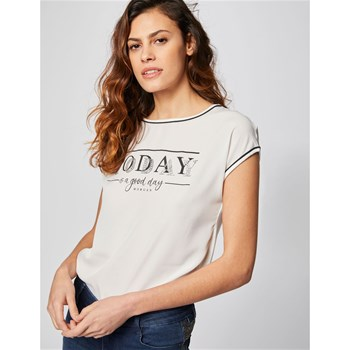 Morgan - Day - T-shirt manches courtes - blanc
