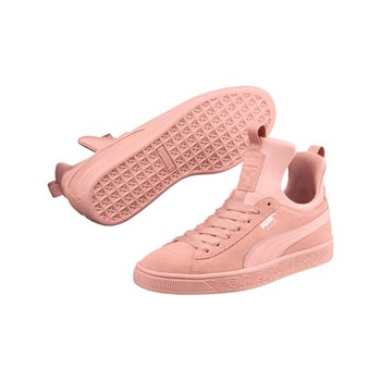 Puma - Baskets montantes en cuir - rose
