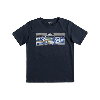 THEJUNGLESSYTH B TEES - T-SHIRT MANCHES COURTES - BLEU Quiksilver