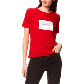 Only - Lux - Kurzärmeliges T-Shirt - rot