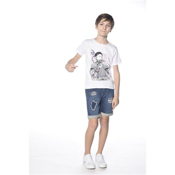 Deeluxe - Popeye - T-shirt manches courtes - blanc