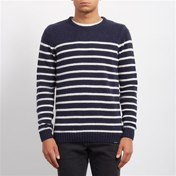 Volcom - Edmonder striped - Pull - bleu
