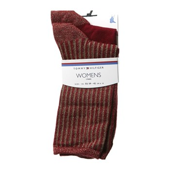Tommy Hilfiger - 2-er Set Socken - bordeauxrot