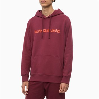 Calvin Klein - Sweat à capuche - bordeaux