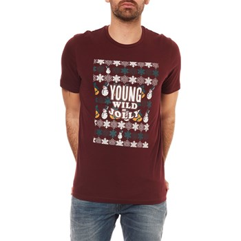 Jack & Jones - Jordatxmas - T-shirt manches courtes - bordeaux