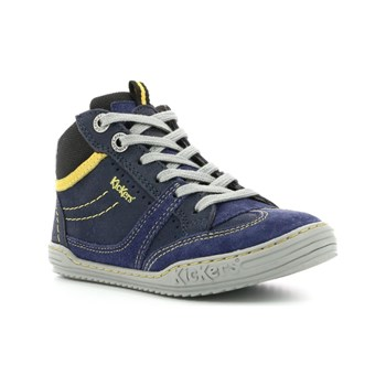 Kickers - Jiroma - Sneakers alte in pelle - blu scuro