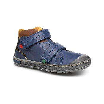 Kickers - Iguto - Sneakers alte in pelle - blu scuro