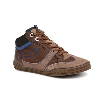 Kickers - Jiroma - Sneakers alte in pelle - marrone