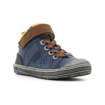 Kickers - Iguane - Sneakers alte in pelle - blu scuro