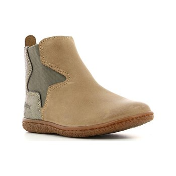 Kickers - Vermillon - Bottines en cuir - beige