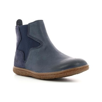 Kickers - Vermillon - Bottines en cuir - bleu marine