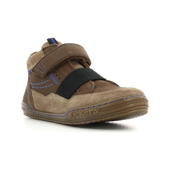 Kickers - Jinglelast - Sneakers alte in pelle - marrone