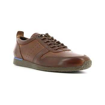 Kickers - Olympei - Baskets en cuir - marron clair
