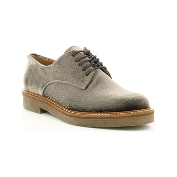 Kickers - Oxfork - Derbies en velours - argent