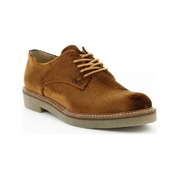 Kickers - Oxfork - Derbys aus Veloursleder - goldfarben