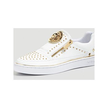 Guess - Bella - Baskets en cuir - blanc