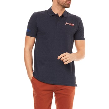 JORLOGAN - POLO MANCHES COURTES - BLEU MARINE Jack & Jones