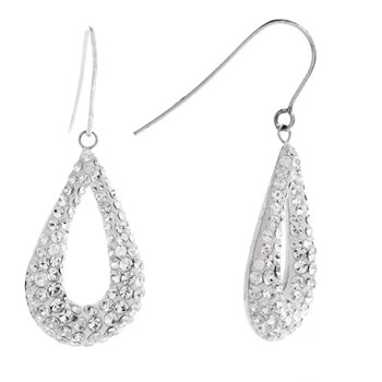 Original Crystal - Poires Lumineuses Crystal - Pendientes - blanco