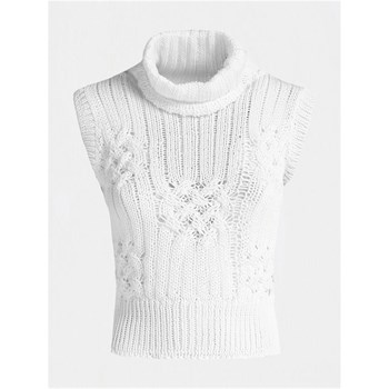 PULL COL HAUT - BLANC Guess