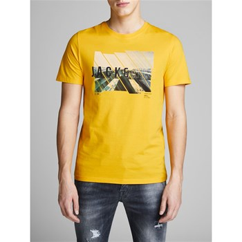 Jack & Jones - Spring-feel - T-shirt manches courtes - jaune