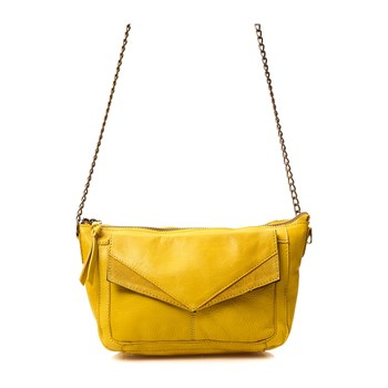 Pieces - Beth - Borsa a tracolla in pelle - giallo