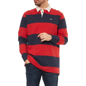 Tommy Jeans - Polo manches longues - rouge