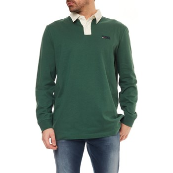 Tommy Jeans - Polo manches longues - vert
