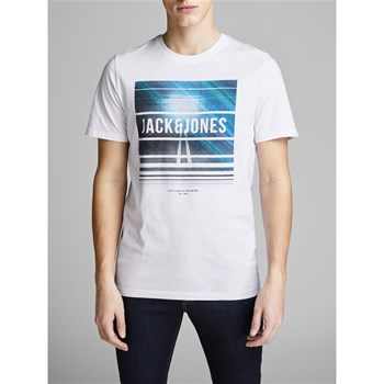 Jack & Jones - Jcospring-Feel - T-shirt manches courtes - blanc
