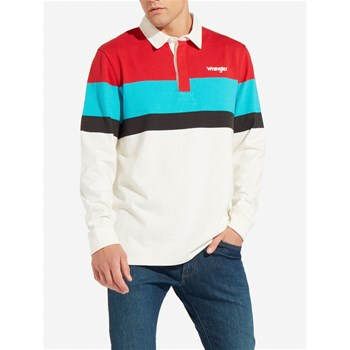Wrangler - RUGBY - Polo manches longues - blanc