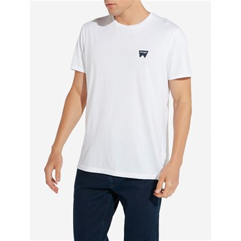 Wrangler - Sign off tee - T-shirt manches courtes - blanc