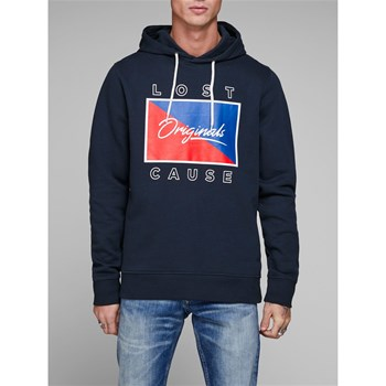 Jack & Jones - Jorantwon - Sweat à capuche - bleu marine
