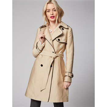 Morgan - Ginger - Trench détail piping - beige