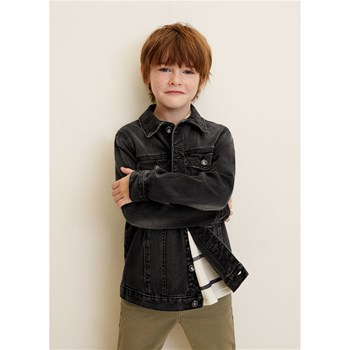 Mango Kids - Veste denim - gris