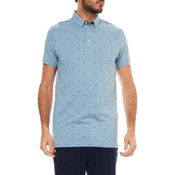 Scotch & Soda - Kurzärmeliges Poloshirt - hellblau