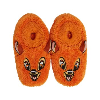 Undiz - Asteriz mizariz - Chaussons mules imitation fourrure - orange