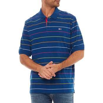 Tommy Jeans - Polo manches courtes - bleu